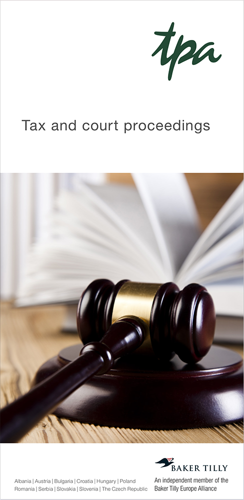 Tax and court proceedings
