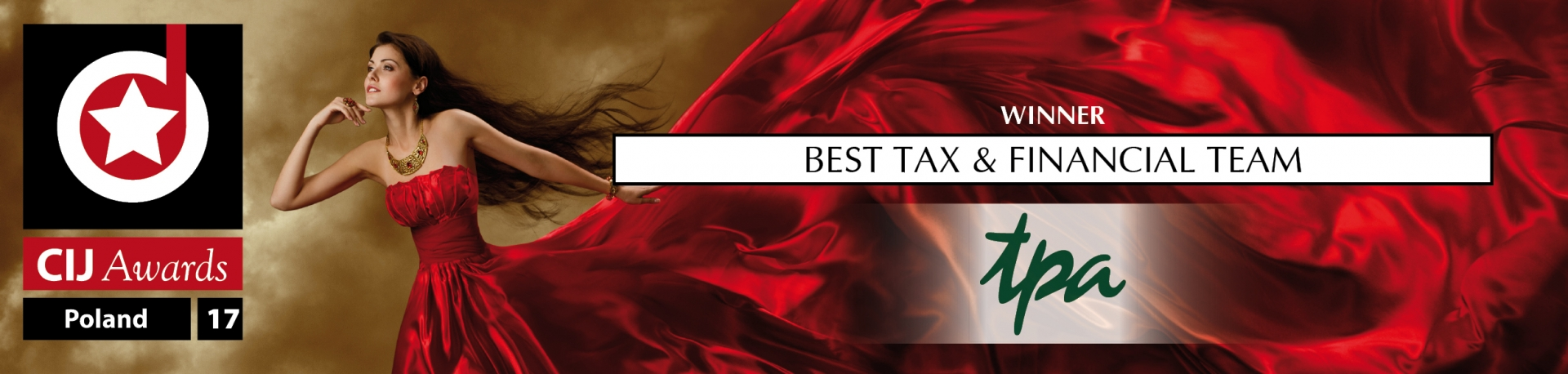 Podczas CIJ Awards Poland TPA Poland zdobywa nagrodę w kategorii Best Tax & Financial Team